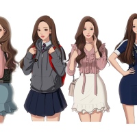 Webtoon Comic Series True Beauty: Jugyeong Inspired Looks